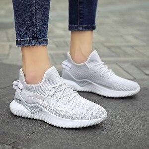 2020 New Arrival damskie buty do biegania letnie oddychające białe trampki Vulcaniza buty damskie zasznurować buty sportowe różowe trenerzy