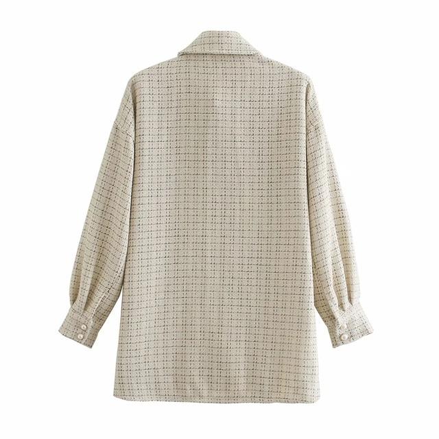 Tweed Women Vintage Oversize Shirt 4