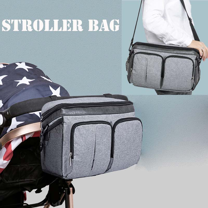 Diaper Bag For Baby Stuff Nappy Bag Stroller Organizer Baby Bag Mom Travel Hanging Wet Dry Carriage Pram Buggy Cart Bottle Bag
