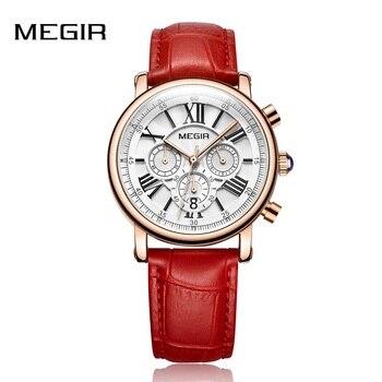 MEGIR موضة النساء ساعات يد العلامة التجارية الفاخرة السيدات ساعة كوارتز ساعة لعشاق Relogio Feminino الرياضة ساعات المعصم