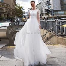 Vestidos de boda de sirena de encaje desmontable de manga larga de tren con apliques de encaje vestido de novia Vestidos de Noivas talla grande