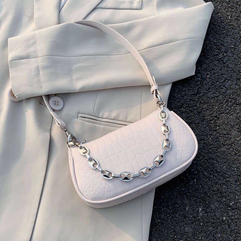 Small PU Leather Shoulder Bags For Women 2020 Elegant Handbags Female Travel Totes Lady Fashion Hand Bag Chain Design