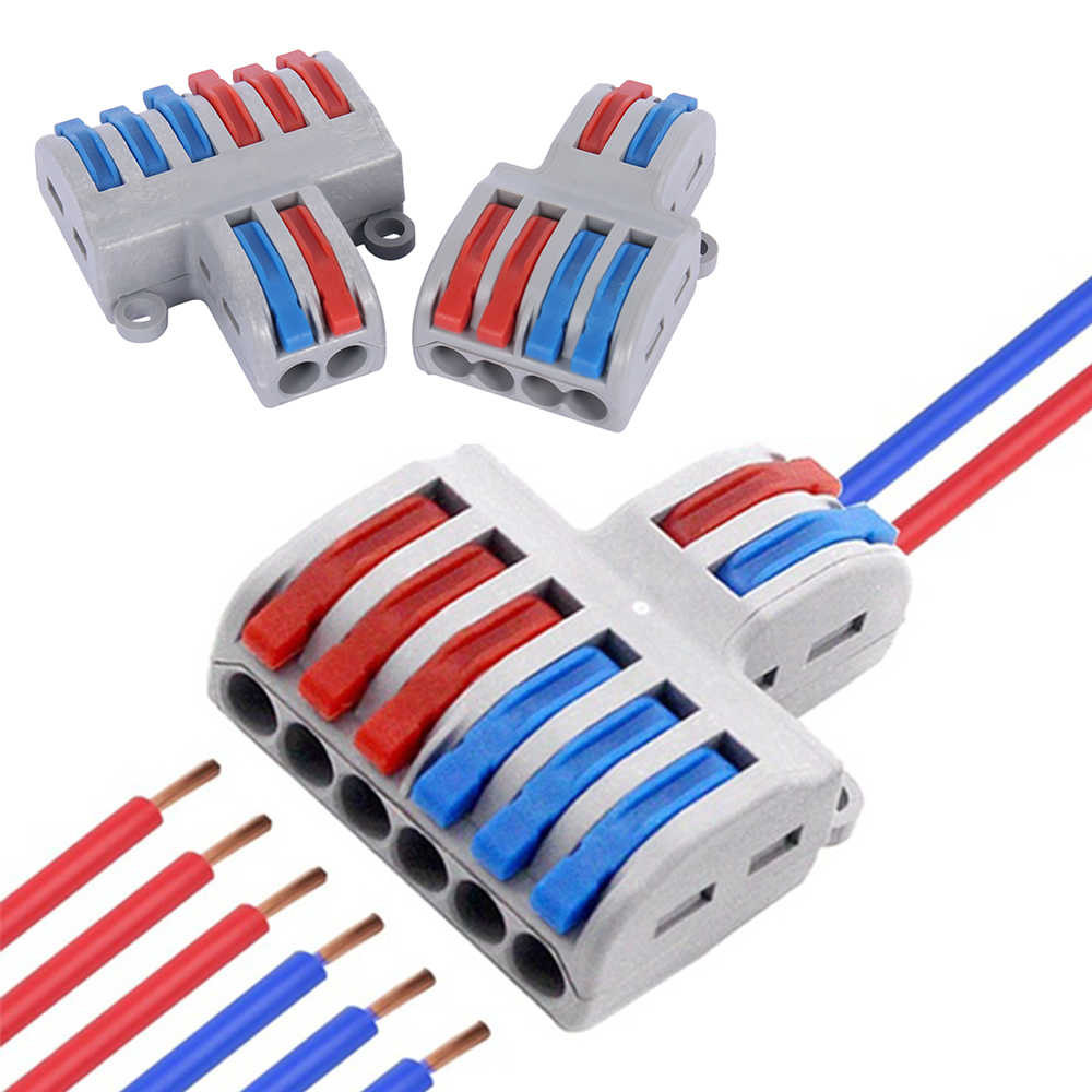 Mini Fast Wire Connector Universal Wiring Electrical Cable Connector LED Lamp Push-in Conductor Terminal Block PCT-222 SPL-62/42