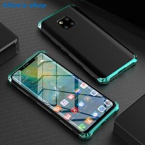 Image 5 - Aluminium Metal & Hybrid Pc Hard Volledige Bescherming Case Voor Huawei Mate 20/ Pro/ X 5G Luxe slim Shockproof Cover Case 20X 5G