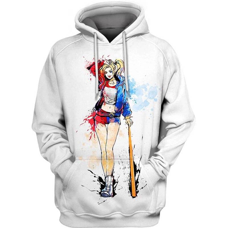 PLstar Cosmos dc comics  Crazy Girl 3d hoodies/shirt/Sweatshirt Winter long sleeve Pullover Fashion Harajuku streetwear