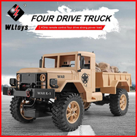 WLtoys 124301 2.4Ghz 1/12 4WD Off road RC Military Truck Vehicle RC Car Remote Control for Kids Children Toy Gift Present
