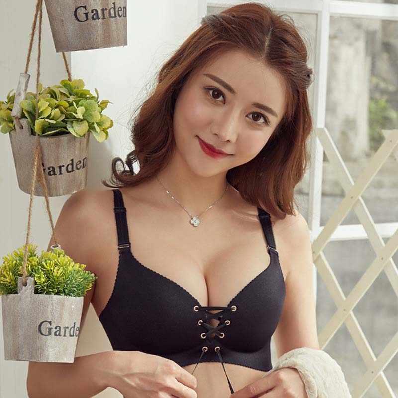 חלקה סקסית חזיות לנשים אופנה לדחוף את חזיית חוט משלוח הלבשה תחתונה 3/4 כוס Bralette כותנה תחתוני חזייה