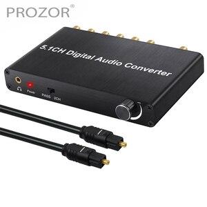 Image 1 - Prozor 192 khz 5.1ch dac conversor de controle de volume digital para analógico e 3.5mm jack conversor de áudio adaptador para AC 3