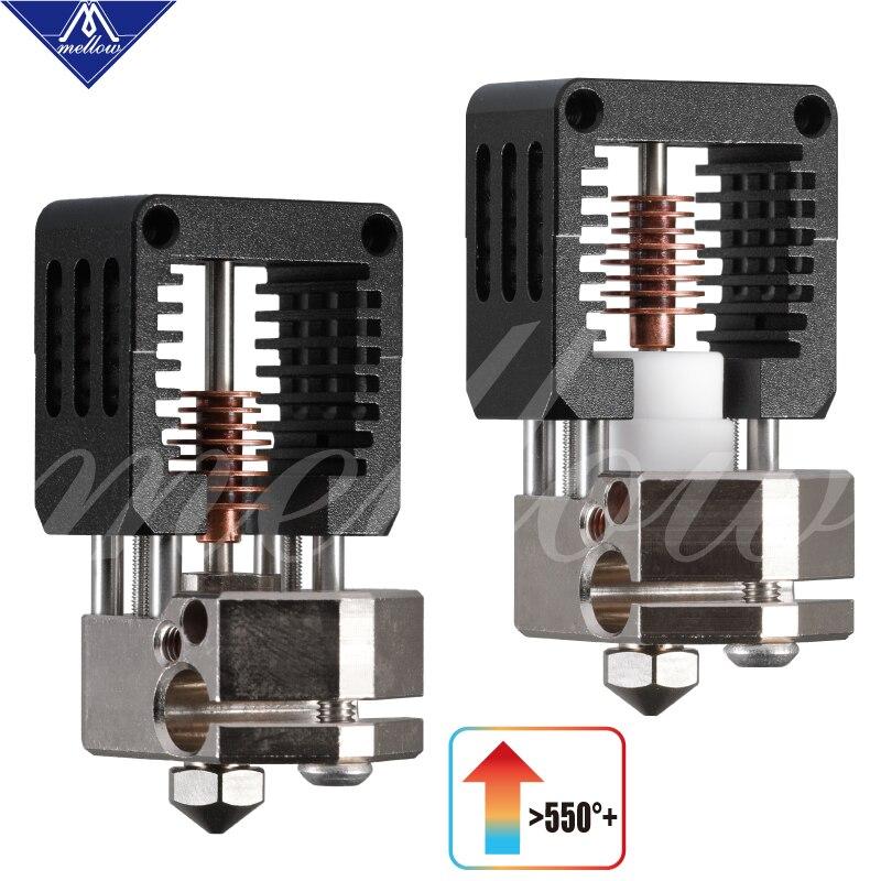 Mellow todo o metal nf-crazy hotend v6 bocal de cobre para ender 3 cr10 prusa i3 mk3s alfawise titan/bmg extrusora 3d peças de impressora