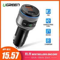 Ugreen USB Car Charger Bluetooth FM Transmitter QC Quick 3.0 Charge Fast Charger for Xiaomi Samsung iPhone Huawei QC3.0 Charger