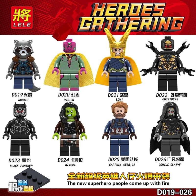 16pcs/set Legoinglys Hero Mini Figures Building Blocks Model Kits Toys For Children Brinquedos