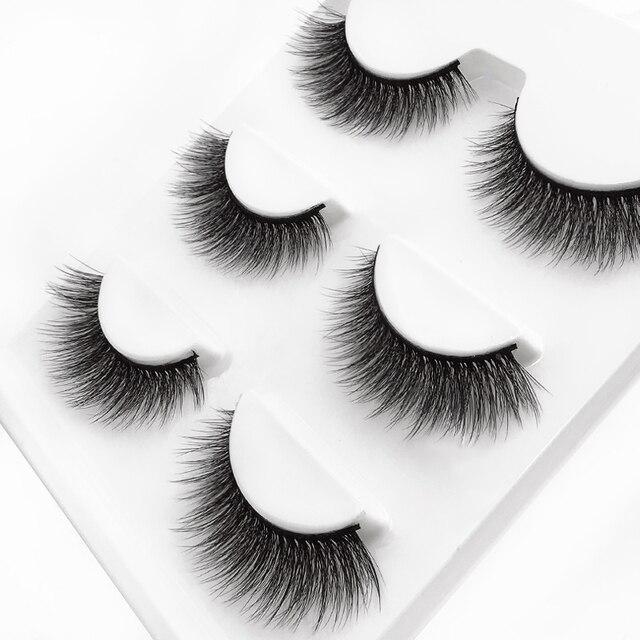 SHIDISHANGPIN 3 pairs 29 styles 3D Faux Mink Hair Soft False Eyelashes Fluffy Wispy Thick Lashes Handmade Lash Eye Makeup Tools 5