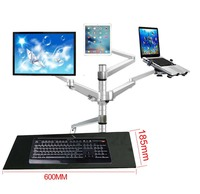 OA 13X Multimedia Desktop Dual Arm 10 25 LCD Monior stand mount+ Laptop Holder Stand +10 tablet mount+keyboard tray bracket