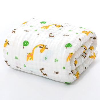 giraffe cotton baby bath towel