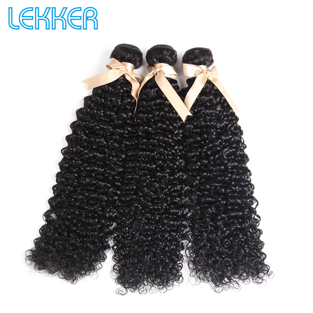 Hair Lekker Bundles with Closure Kinky Curly Bundles with Closure Curly Bundles with Closure Brazilian Hair Weave Bundles