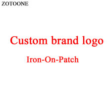 ZOTOONE Fashion Patch Custom Clothing Brand Logo Iron on for Clothes DIY T-shirt Applique Heat Transfer Letter Sticker E