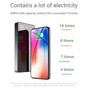 Image 5 - Qi Power Bank 20000mAh Dual USB External Battery Charger For iPhone X XS 8 plus 11 pro Samsung Xiaomi mi 9 Wireless Power bank