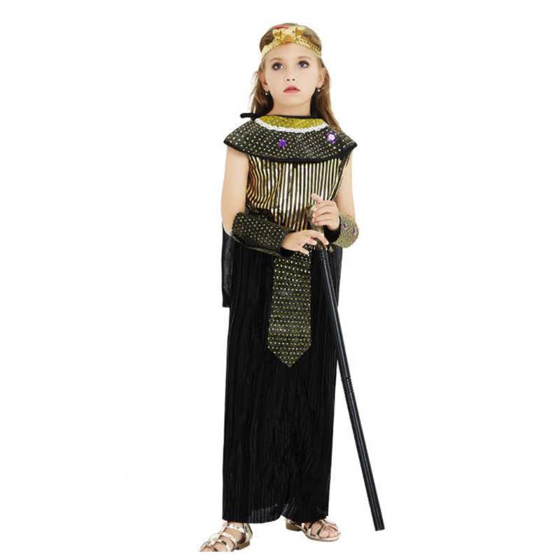 ハロウィン衣装子供のためのベビーファラオ女王エジプトクレオパトラ衣装ガールズボーイズ子供古代エジプトファンシードレスコスプレ
