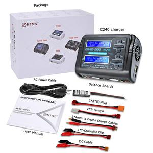 Image 5 - HTRC Lipo Charger C240 Duo AC/DC 150W/240W Dual Channel 10A DischargerสำหรับLiHV LiFe lilon NiCd NiMh Pb Battery Balance Charger