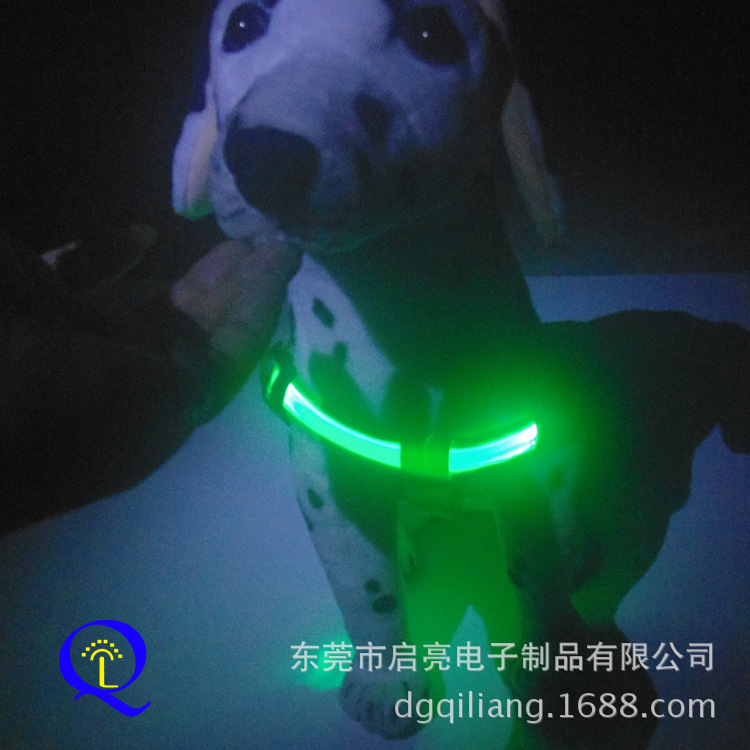 Export Europe And America Pet LED Shining Chest Suspender Strap Flash Dog Chain Hand Holding Rope Distraction Suspender Strap La