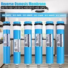 Casa 100 Gpd Ro Membrana Ad Osmosi Inversa Sistema di Acqua di Ricambio Filtro di Purificazione di Acqua di Filtrazione Ridurre I Batteri da Cucina