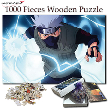 MOMEMO Wooden Puzzles Toys Cartoon Anime 1000 Pieces Puzzle for Adult Kakashi Anime Puzzle Games Wooden Toys for Kids Children