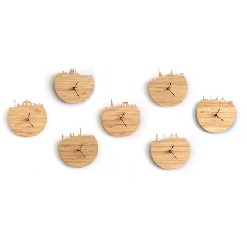 Gold - Washington Natural Bamboo Wall Clock
