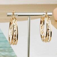 Gold und Silber Farbe Hgflyxu Runde Big Hoop Ohrring Für Frauen Zink-legierung Schöne Form Dame Ohr Zubehör Party Geschenke e0143