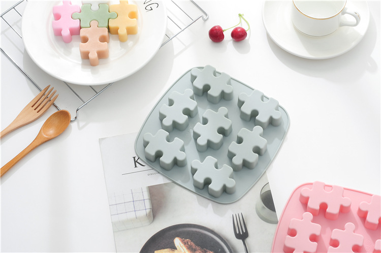 Puzzle Shape Silicone Fondant Mould Chocolate Sugar Craft Cake Mold Baking
