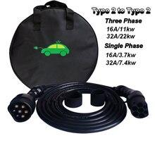 Кабель для зарядки evse 16a 32a ev Тип 2 электромобиль 11 кВт