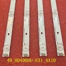 4 Stks/set Led Backlight Voor Hisense H49MEC3050 49K300U H49M3000 LED49K300U LED49EC520UA LED49EC620UA Hisense_49_HD490DU E31_4X10