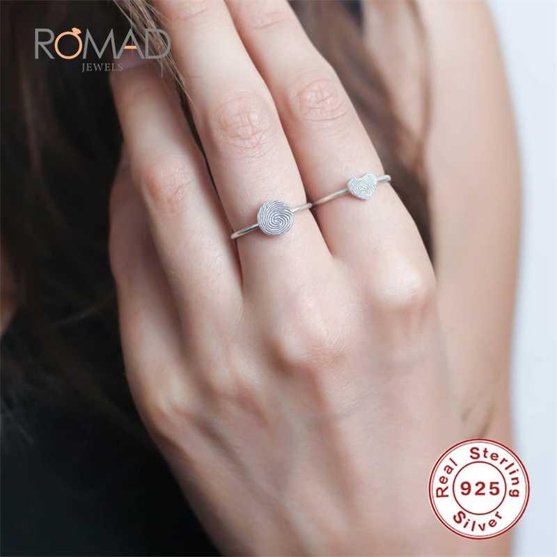אהבת לב טביעת אצבע פשוט 925 סטרלינג רסיס טבעות נשים תוספות זעיר חמוד אהבת רסיס צבע טבעות תכשיטים