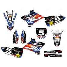 for YAMAHA YZ125 YZ250 2015-2018 New Full Graphics Decals Stickers Custom Number Name Glossy Bright Waterproof