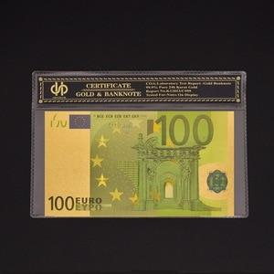 Billet de banque européen coloré de 100 euros, copie en or, de Collection de billets de banque,
