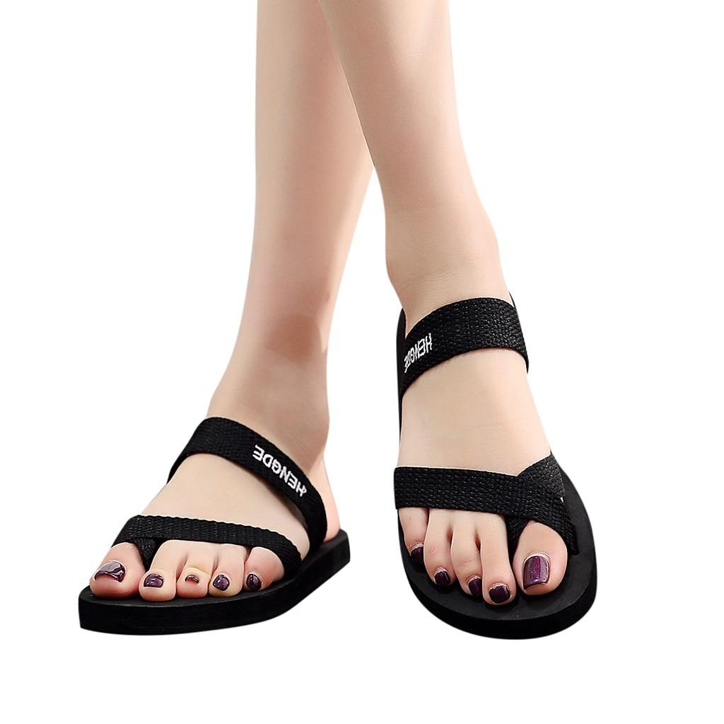 Platform Sandals for Women,2019 New Casual Fashion Clip Toe Comfort Flip Flops Roman Beach Slippers