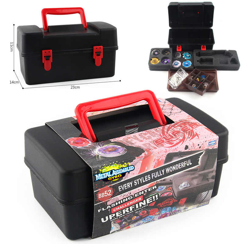 1 قطعة المحمولة Beyblade تخزين صندوق حمل المنظم ل Beyblade انفجار الدوران قاذفة بنين الاطفال لعبة حقيبة للتخزين