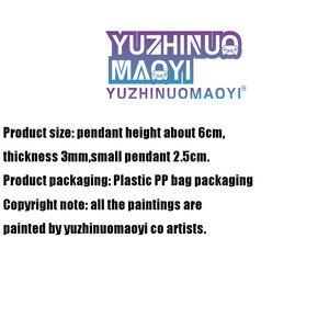 Image 5 - Gra Genshin Impact Zhongli Xiao Albedo Diluc kolorowy brelok dwustronny akrylowy brelok Cartoon wisiorek wszystkie Role prezent