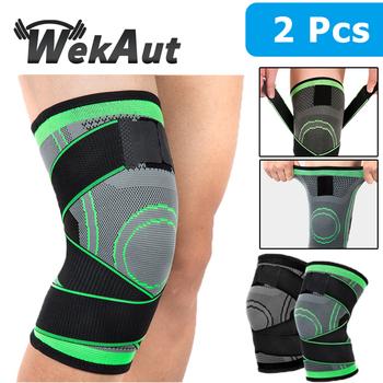 1 para mężczyźni kobiety sportowy ściągacz na kolano rękawy uciskowe ból stawów zapalenie stawów ulga Running Fitness elastyczna opaska Brace ochraniacze na kolana tanie i dobre opinie Uniwersalny CN (pochodzenie) Polyester 104542 M L XXL