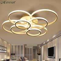 Moderne Decke Lichter Led-deckenleuchte Für Wohnzimmer Schlafzimmer Weiß kaffee farbe oberfläche montiert runde Lampen fernbedienung