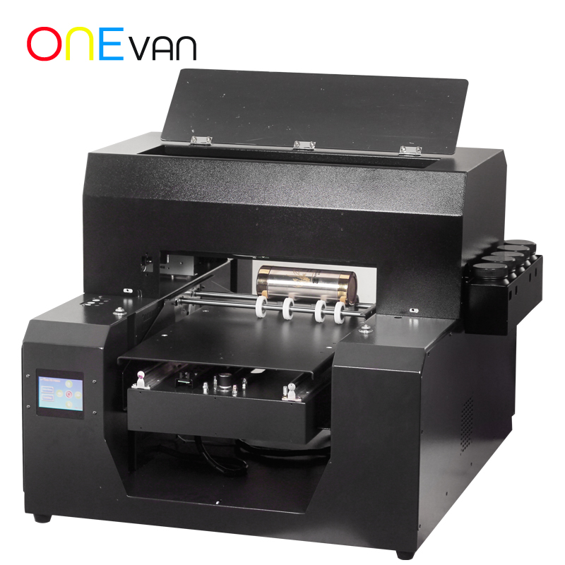 A3 Size UV Printer With Bottle Holder Inkjet Print Machine DIY Printers For Phone Case Bottle Acrylic Metal Wood Glass
