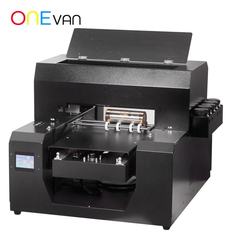 Low Consumption High Quality Bottle Printer A3 Format Uv Flatbed Printer High Speed For Bottle Cylinder