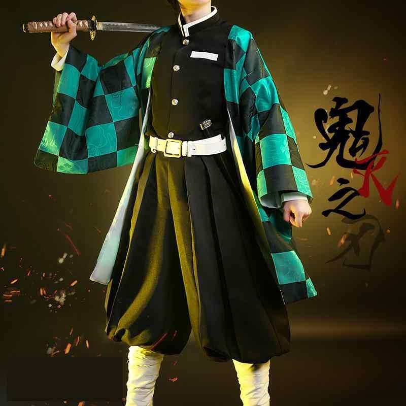 Аниме Косплей демона убийца киметсу но яиба Косплей камадо танджиру Косплей агатсума зенитсу костюм камадо незуко кимоно Giyuu