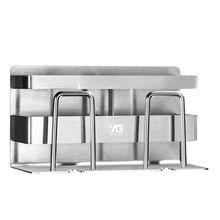 Stainless Steel Toothbrush Holder Toothpaste Holder Stand Adhesive Bathroom Kitchen Organizer