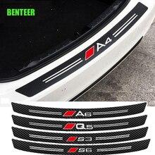 Carbon Fiber Car Bumper Sticker For Audi A1 A3 A4 A5 A6 A7 A8 S1 S3 S4 S5 S6 S7 S8 Q3