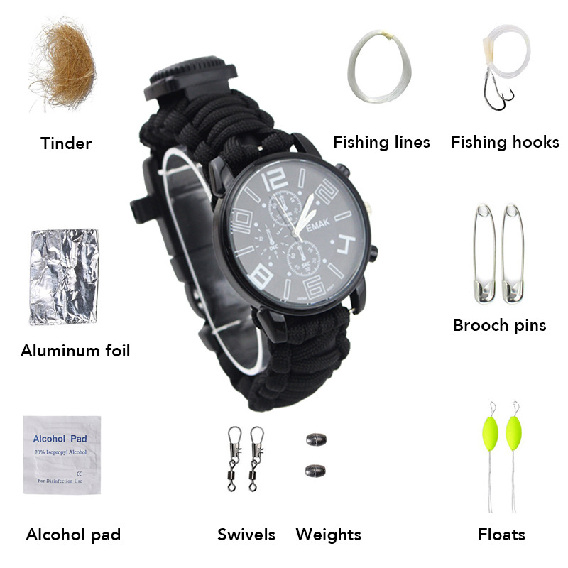 Manufacturers Wholesale Fashion Watch Waterproof Multi-functional Emergency Survival Compass Watch