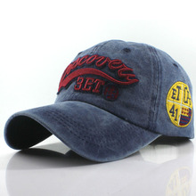 Washed Cotton Baseball Cap For Women Men Snapback Hat Embroi
