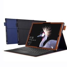 цена на Tablet Case For Microsoft Surface Pro 7 6 Case Cover PU Leather Waterproof Flip Folding Stand Tablet Protective Cover