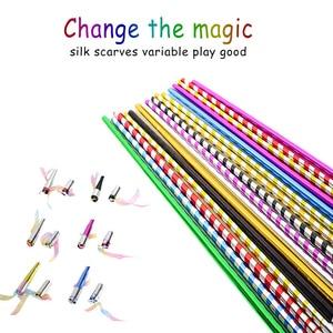 Long-time Crutch Metal Stage Stick Crutch Closed Magic Trick Silk Scarf Magic Wand 70 Cm Random Color Close-up Magic