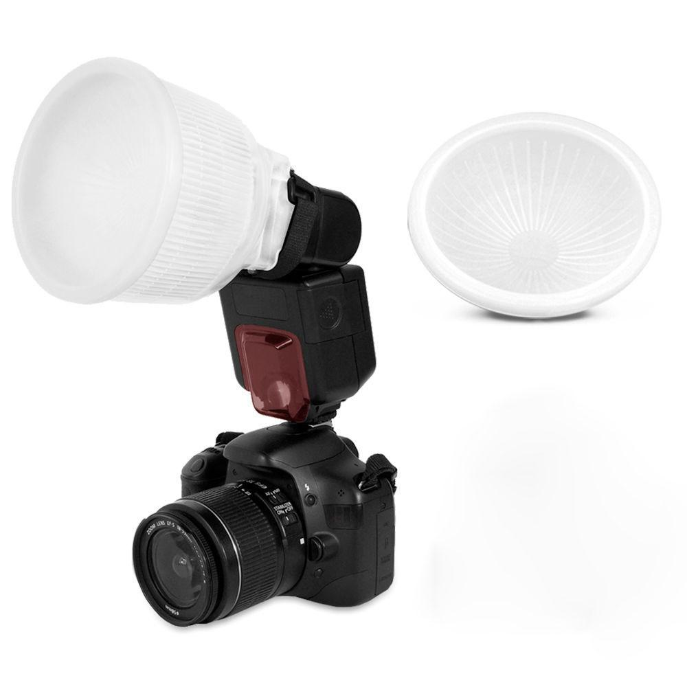 Universal Lambency Flash Diffuser White Dome Cover For Canon 430EX 550EX 600EX Nikon SB600 SB700 Sony A6000 Fits All Flashes