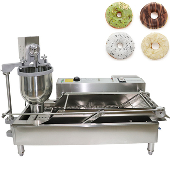 Electric Donut Double Row Commercial Machine Automatic Fried Snack Multifunction Food Processing Machine Stainless Steel 6000W yueding baked donut machine belshaw donut machine